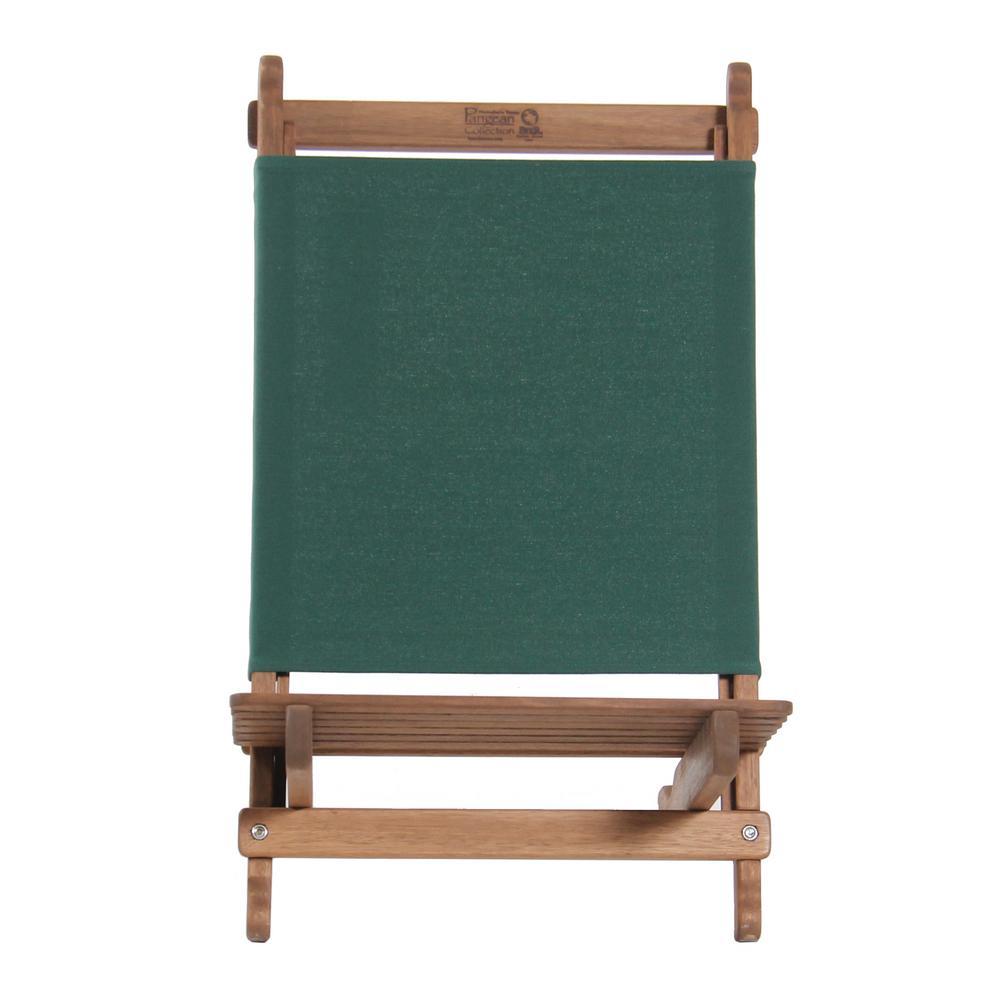 Green Keruing Wood Folding Lounger Chair