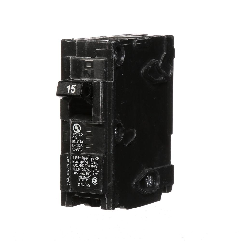Siemens 15 Amp Single-Pole Type QP Circuit Breaker
