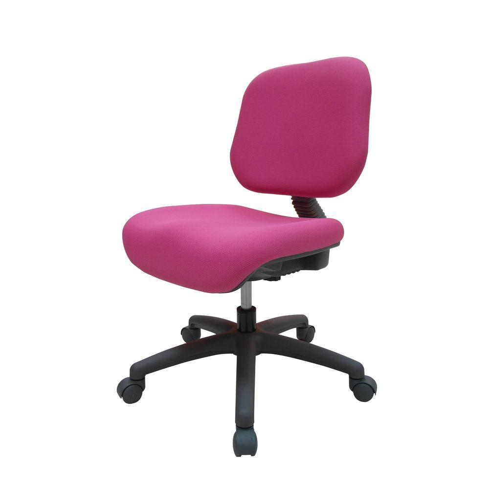 Ore International Pink Fabric Adjule Office Chair