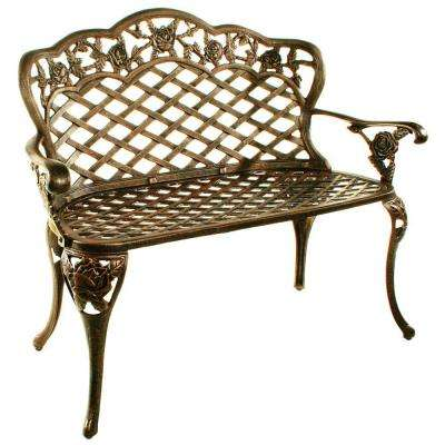 Tea Rose Love Seat Patio Bench