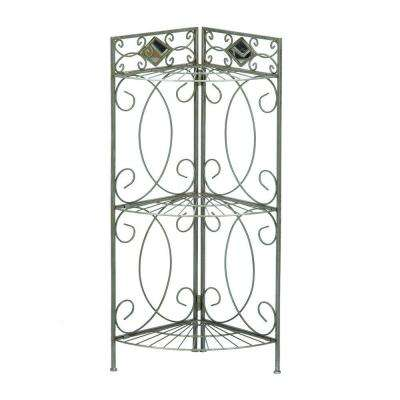 Reflections 3-Shelf Corner Rack in Matte Pewter