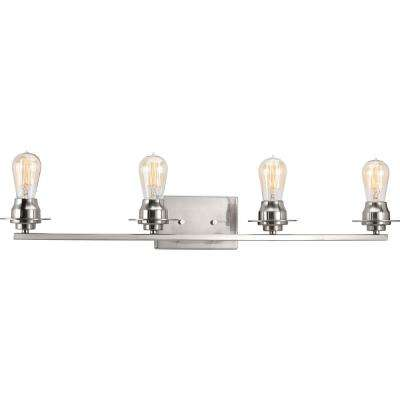 Debut Collection 4 -Light Brushed Nickel Bath Light