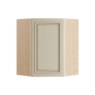 Holden Assembled 24x30x12 in. Single Door Hinge Right Wall Kitchen Angle Cabinet in Bronze Glaze