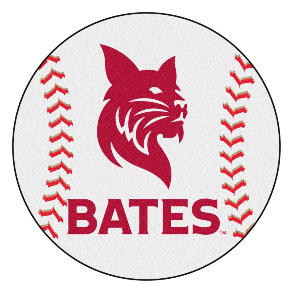 FANMATS NCAA Bates College 27 In. Round Baseball Mat Area