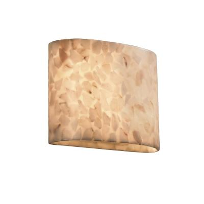 Alabaster Rocks 2-Light Off-White Wall Sconce with Alabaster Rocks Shade