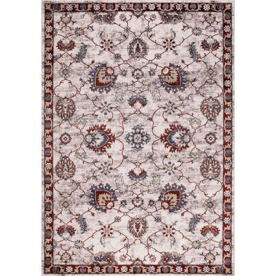 Olympus Mahal Red Rectangle Indoor 7 ft. x 9 ft. Area Rug