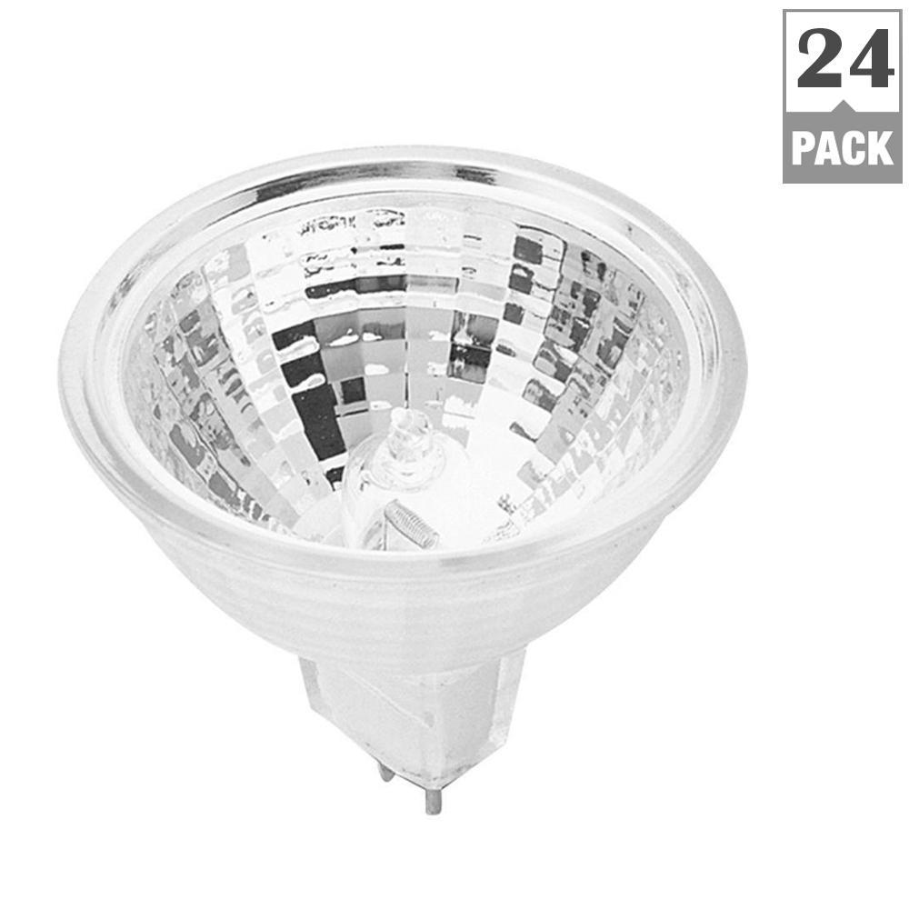 Feit Electric 35-Watt Warm White (3000K) MR16 Dimmable Halogen GU5.3 2-Pin Base 12-Volt Landscape Garden Light Bulb (24-Pack)