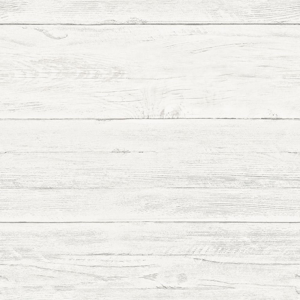 NuWallpaper Off White Shiplap Peel And Stick Wallpaper