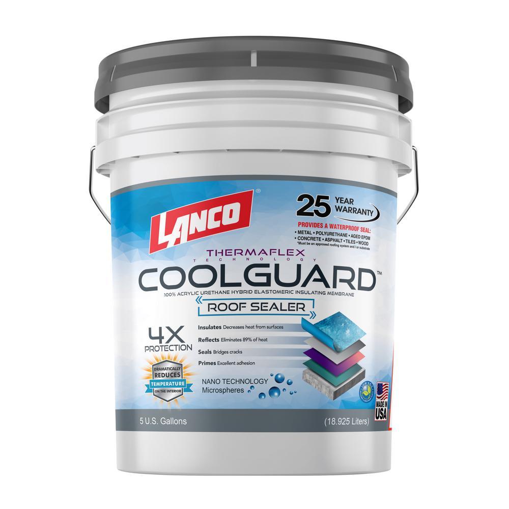 5 Gal. Coolguard 100% Acrylic Urethane Elastomeric Reflective Roof Coating with Dramatic Temperature Reduction