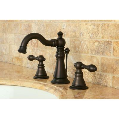 8 in. Widespread 2-Handle Bathroom Faucet in Oil Rubbed Bronze