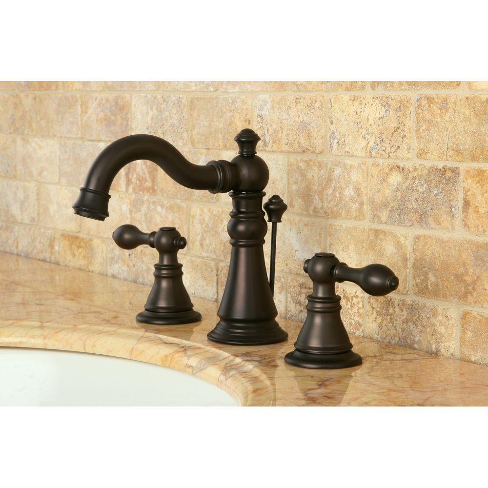 8 in. Widespread 2-Handle Bathroom Faucet in Oil Rubbed Bronze