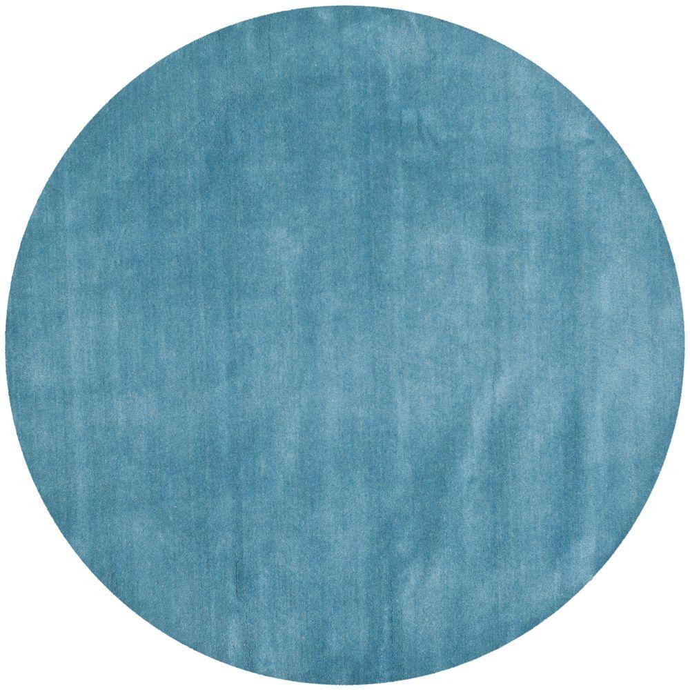Himalaya Blue 4 ft. x 4 ft. Round Area Rug