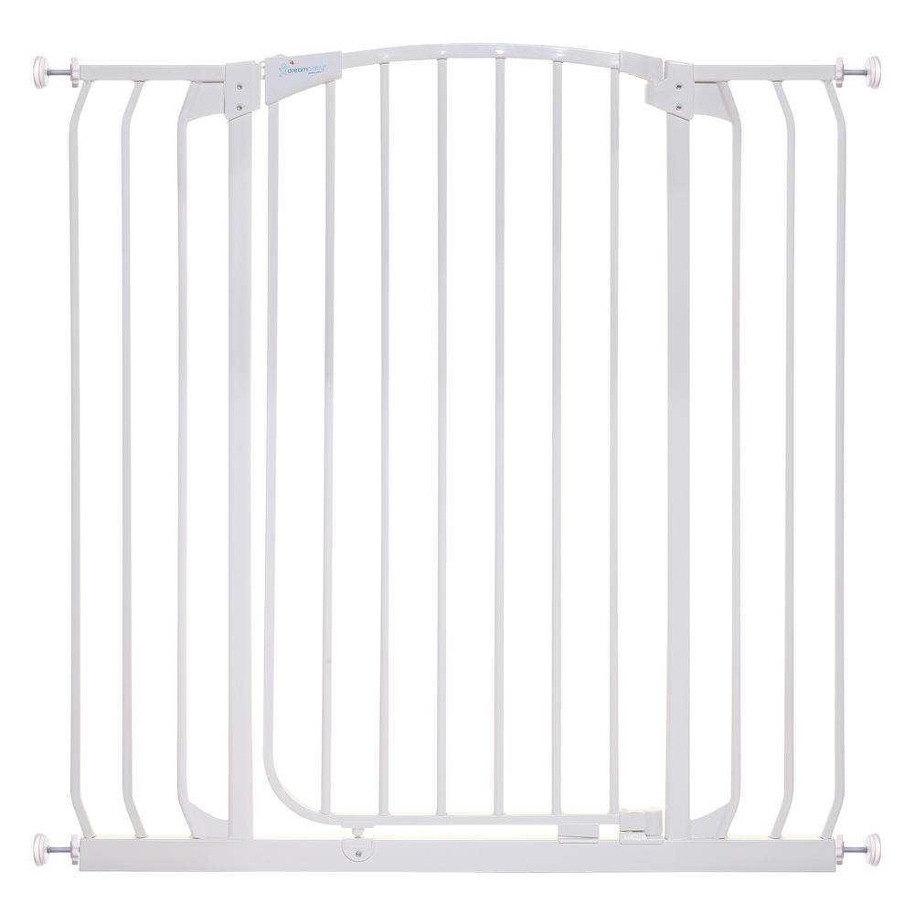 Dream Baby Chelsea 40 in. H Extra Tall and Wide Auto Close Security Gate in White