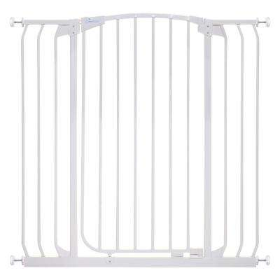 Chelsea 40 in. H Extra Tall and Extra Wide Auto-Close Security Gate in White