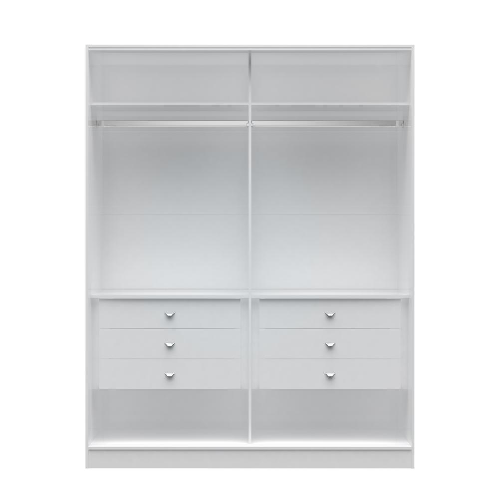 Chelsea 2.0 - 70.07 in. W White He/ She Wardrobe with 6-D...