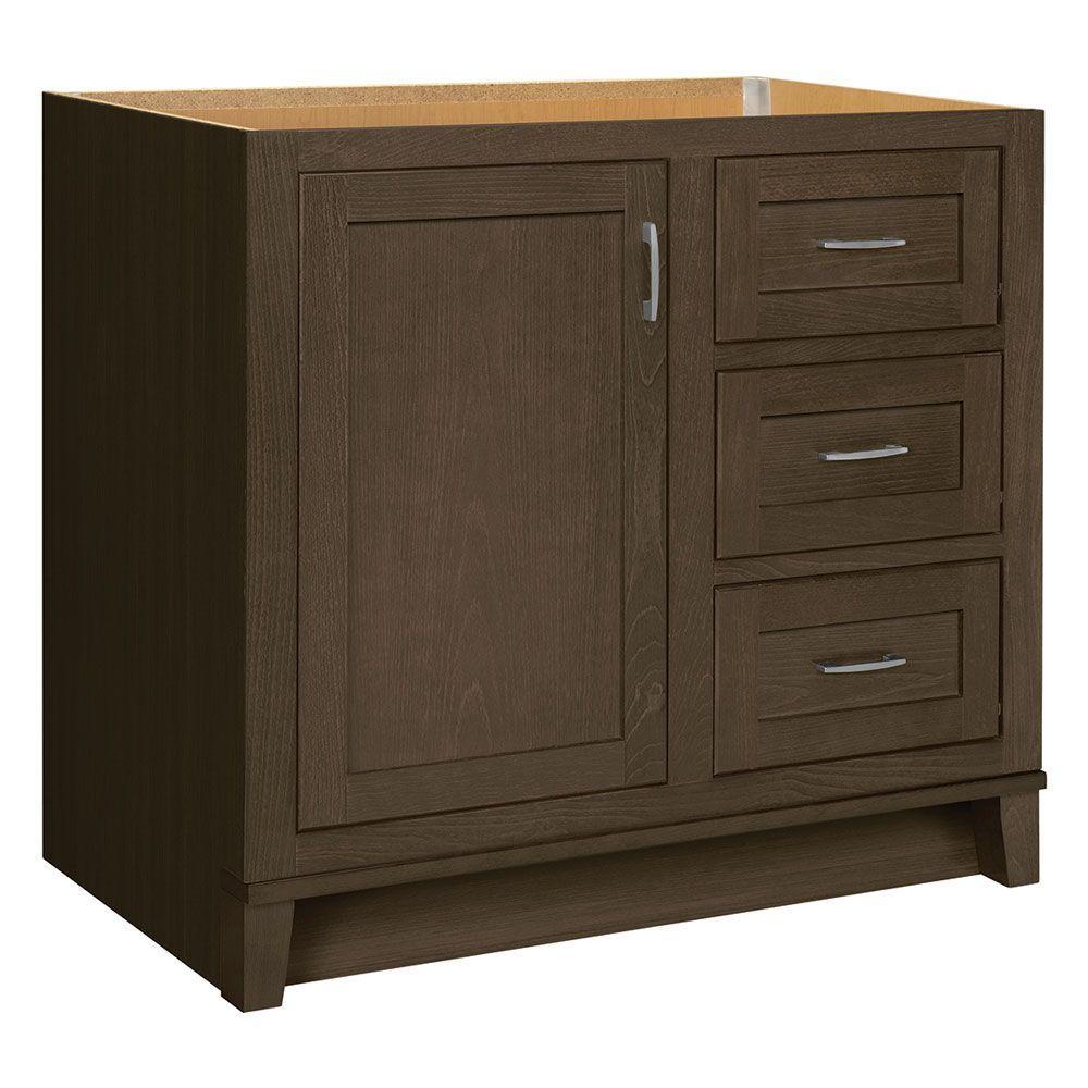 Kinghurst 36 in. W x 21 in. D x 33.5 in. H Bath Vanity Cabinet Only in Gray