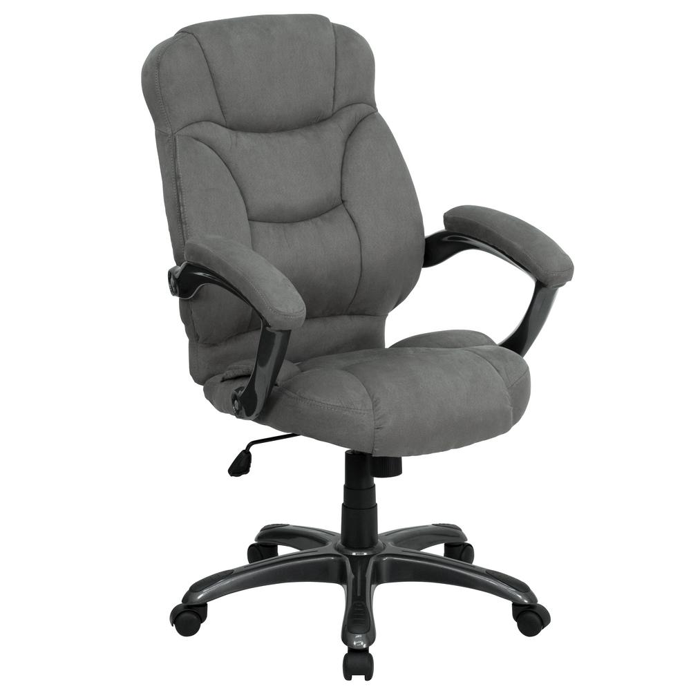 Flash Furniture High Back Gray Microfiber Contemporary Executive Swivel  Office Chair