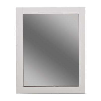 Del Mar 24 in. W Framed Wall Mirror in White