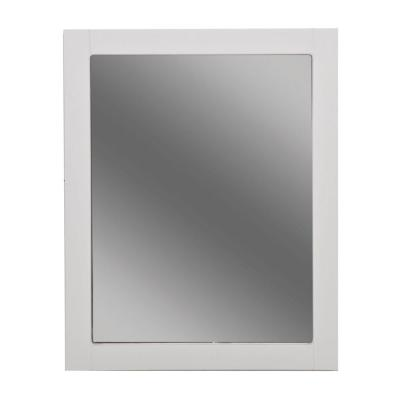 Del Mar 24 in. W x 30 in. H Framed Bathroom Vanity Mirror in White
