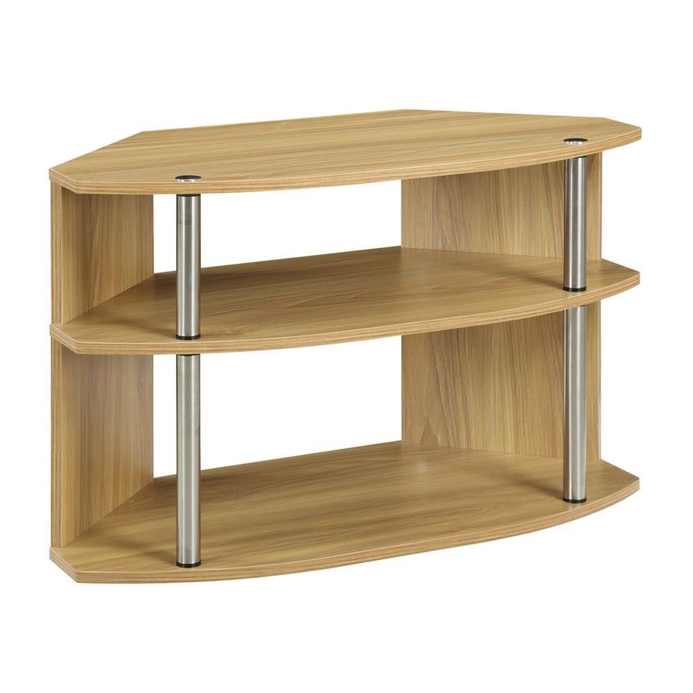Convenience Concepts Designs2Go Light oak Shelved Entertainment Center 151283LO
