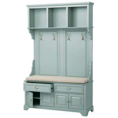 Sadie Antique Blue Double Hall Tree