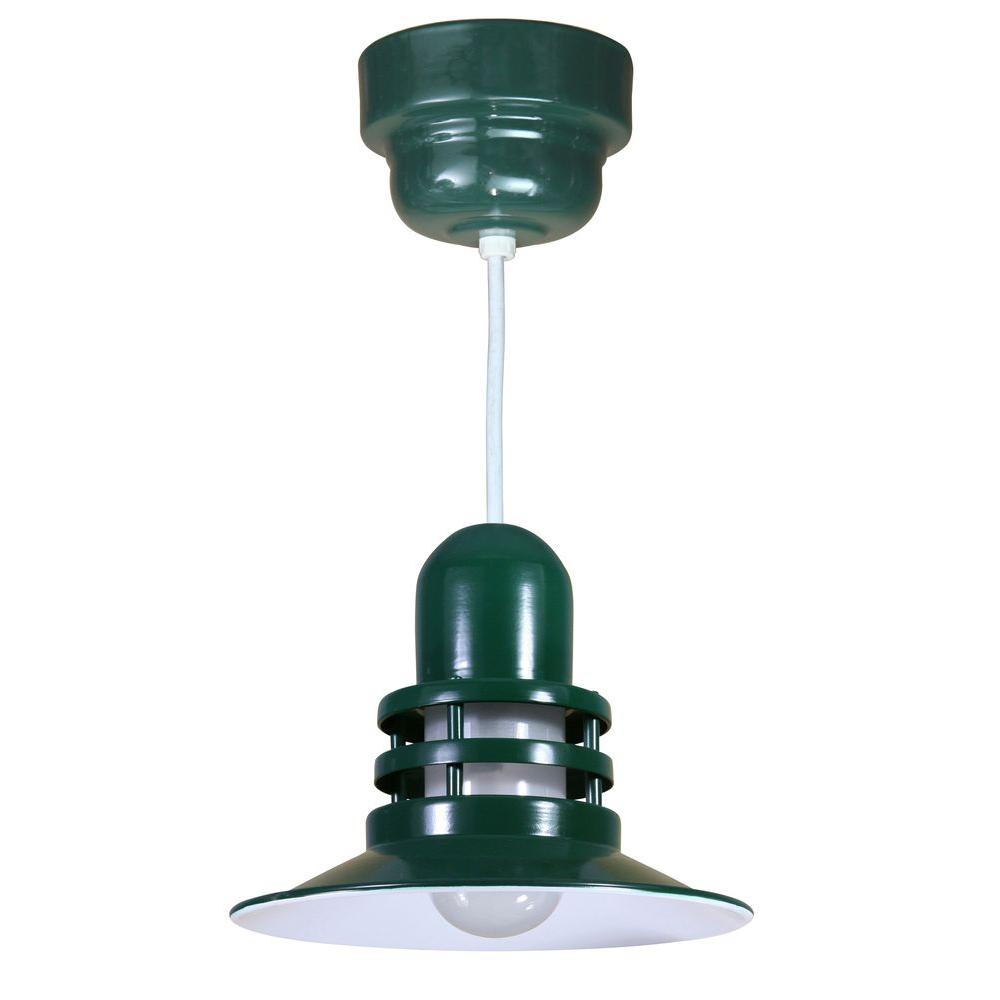 Illumine 1-Light Green Orbitor Shade Pendant With Frosted