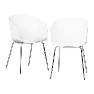 Flam White and Silver Chair (Set of 2)