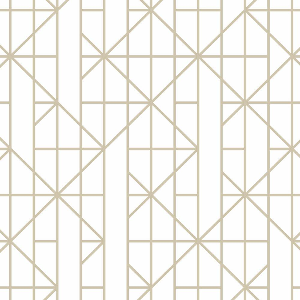 Graham & Brown Gold Linear Removable Wallpaper-103000