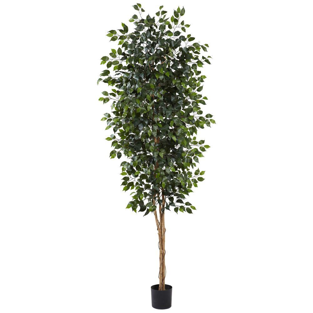 Nearly Natural 8 ft. Ficus Tree, Greens