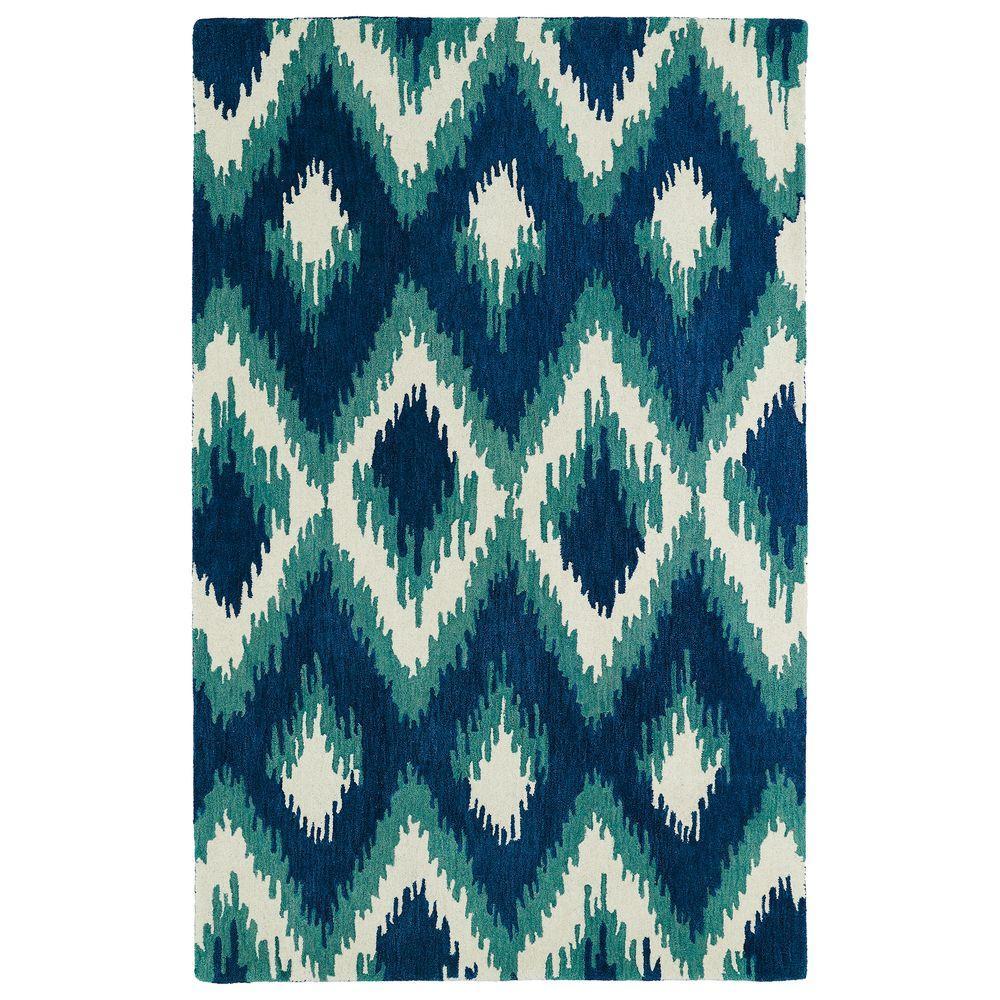 Kaleen Global Inspiration Blue 9 ft. x 12 ft. Area Rug