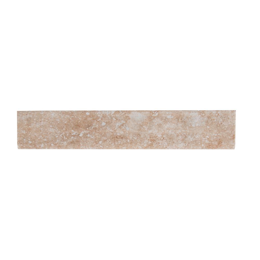 MSI Aliso Bone Bullnose 3 in. x 18 in. Glazed Ceramic Wall Tile (15 lin. ft. / case)