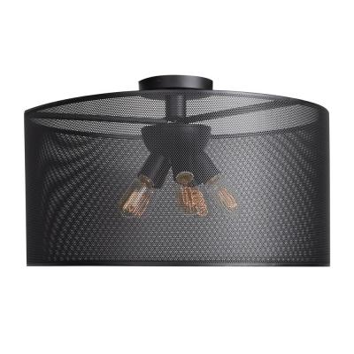 Access Lighting Epic 28 in. W 5-Watt Black Integrated LED Round Semi-Flushmount