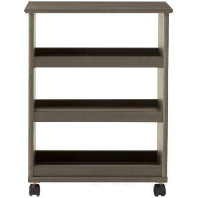 Stanton 20 in. W Multi-Function 3-Shelf Storage Cart in Antique Grey