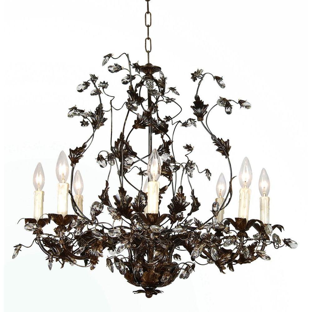 Filament Design Xavier 8-Light Brown Chandelier