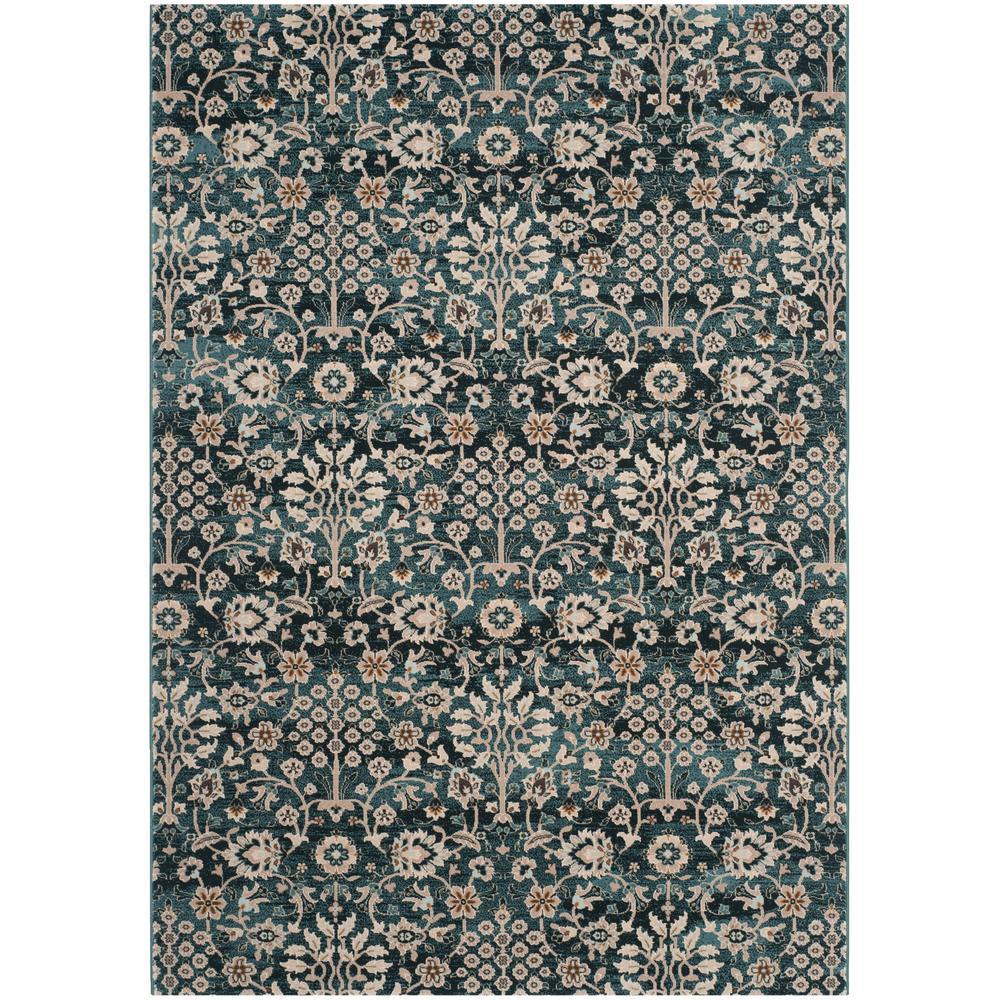 Safavieh serenity turquoise cream 6 ft x 9 ft area rug