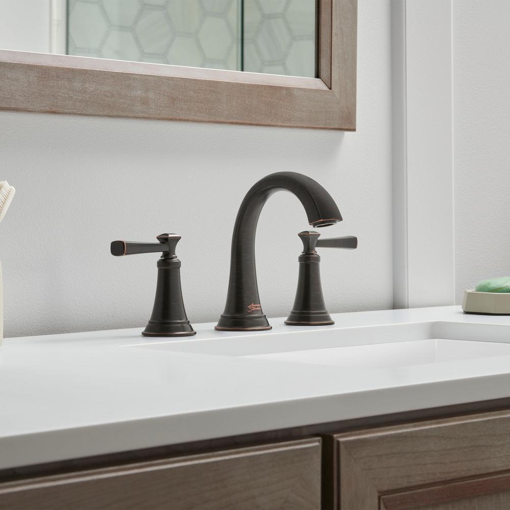 Rumson 8 in. Widespread 2-Handle Bathroom Faucet in Legacy Bronze