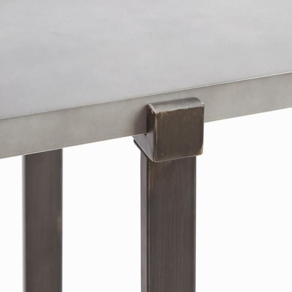 Lewis Gray Concrete Top Console