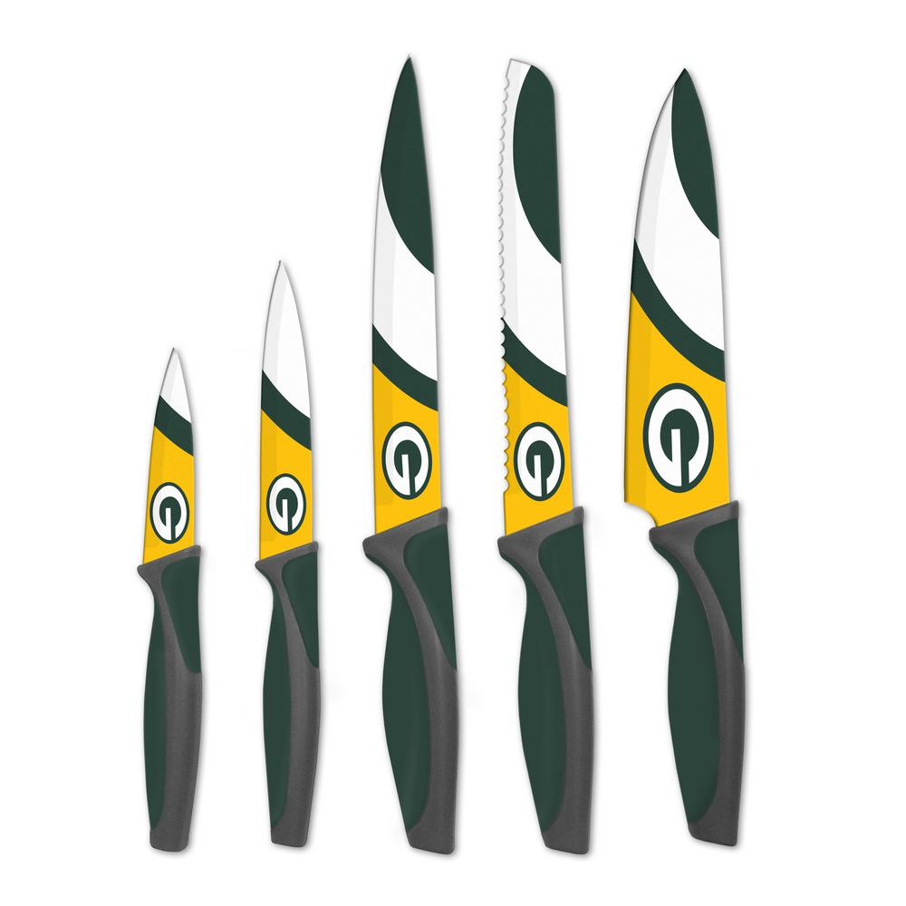 NFL 5-Piece Green Bay Packers Kitchen Knives