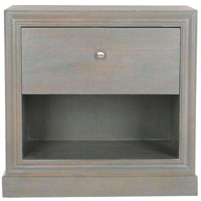 Cain French Grey Storage End Table