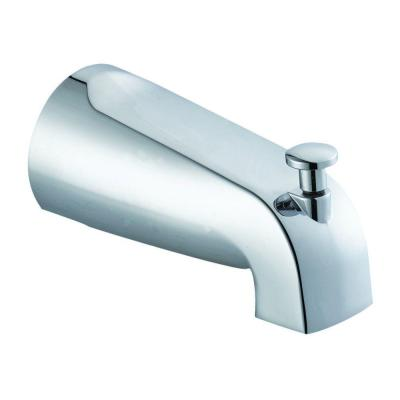 Slip-On Tub Diverter Spout in Polished Chrome