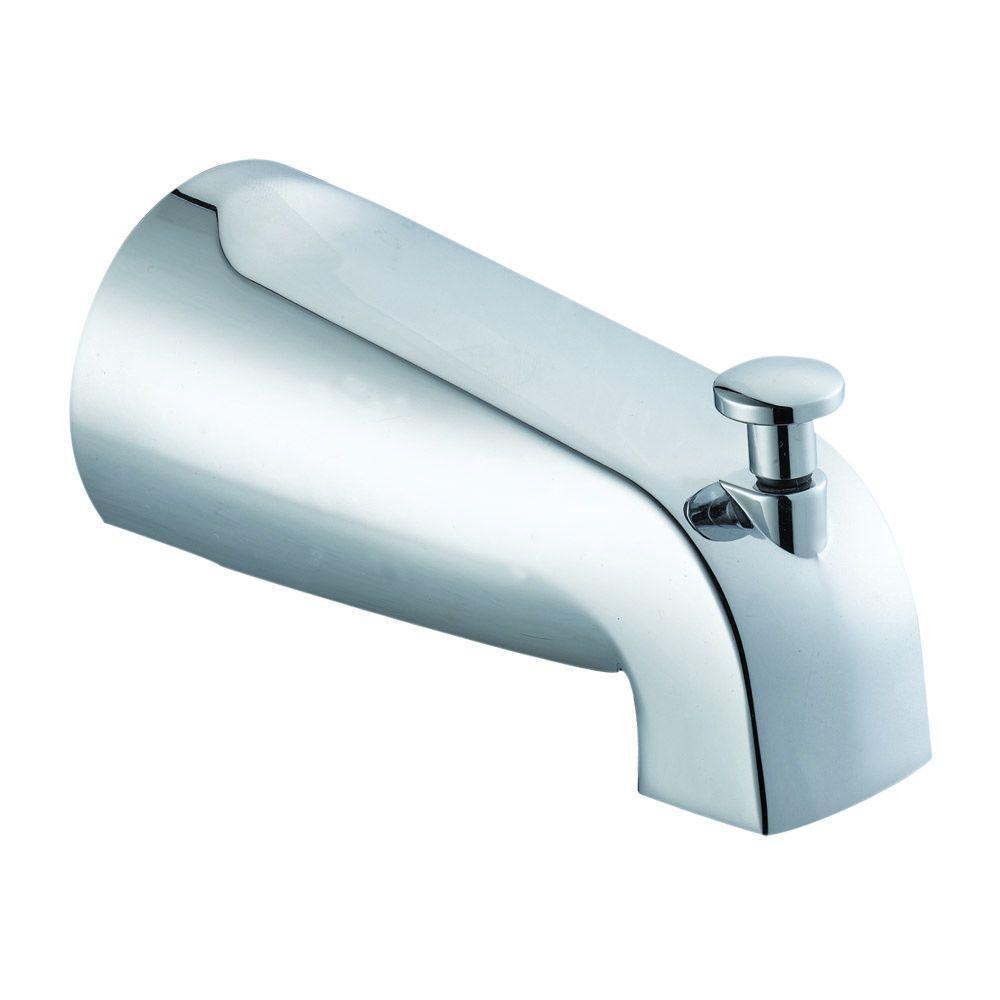 Slip-On Tub Diverter Spout in Polished Chrome