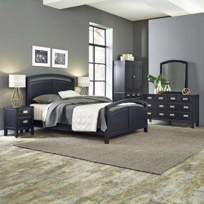 Prescott 6-Drawer Black Dresser