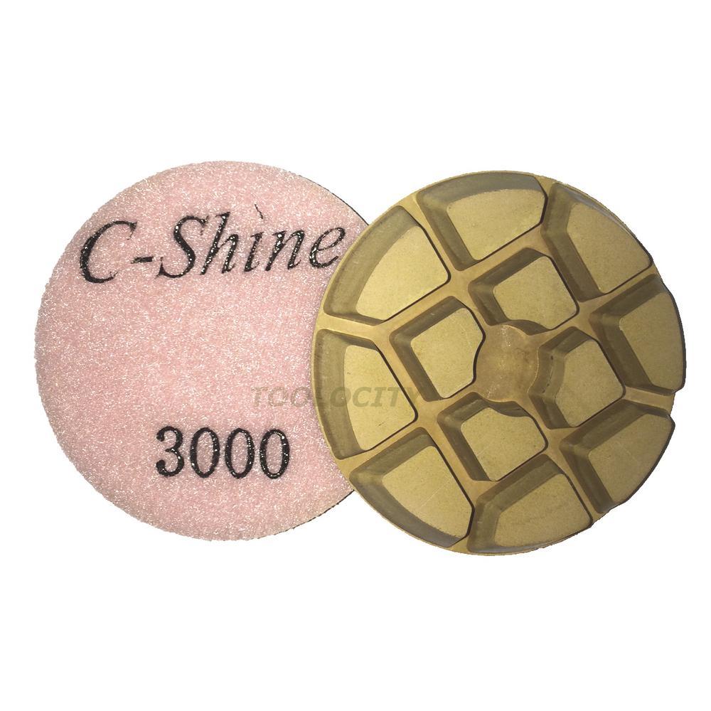 3 In 3000 Grit Concrete Diamond Floor Polishing Pads Discs