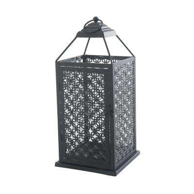 Large Pieced Metal Candle Lantern