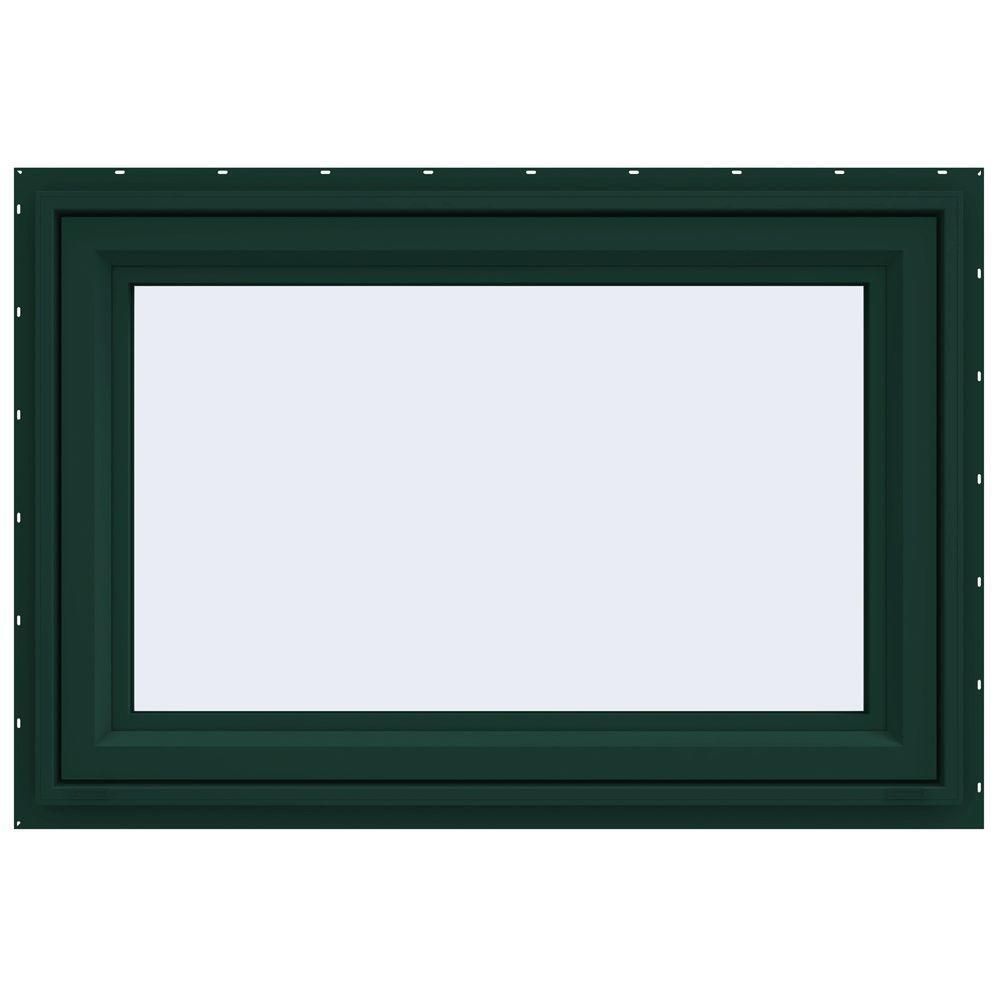 JELD-WEN 35.5 in. x 23.5 in. V-4500 Series Awning Vinyl Window - Green