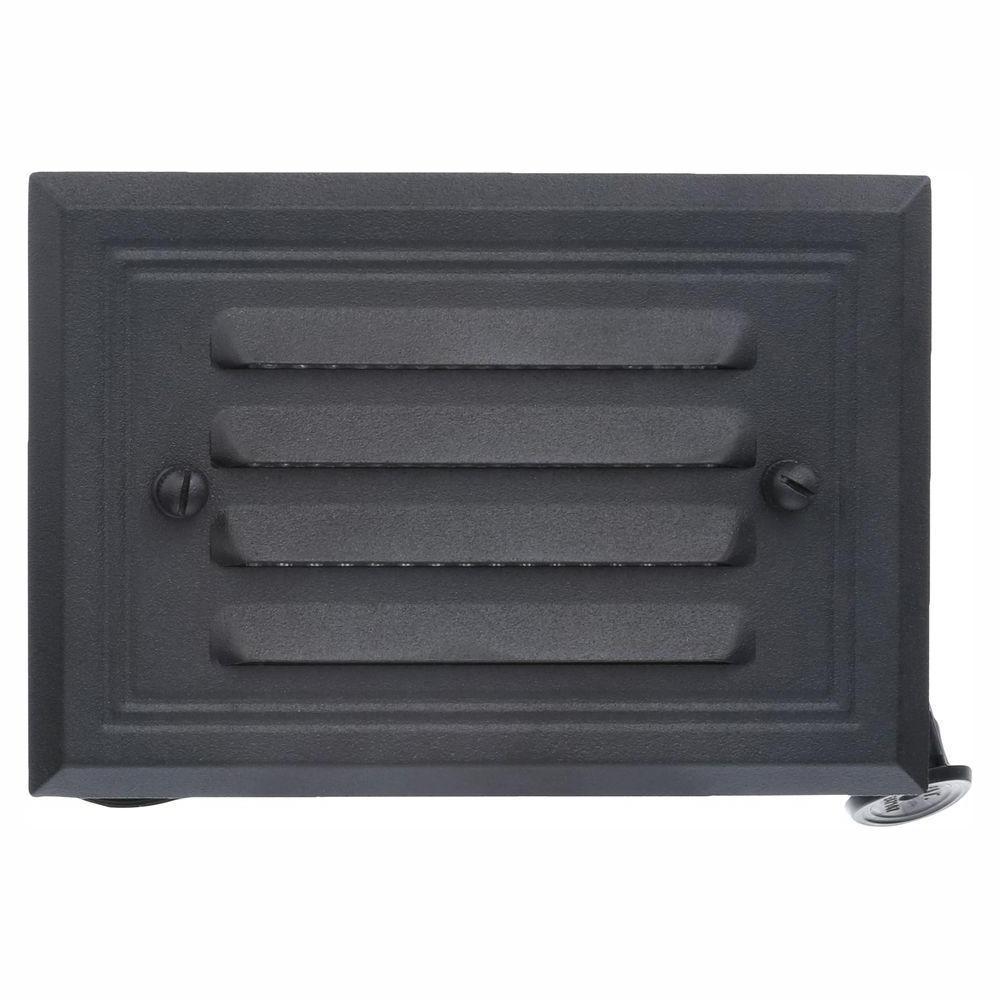 Low Voltage 7-Watt Black Halogen Half Brick Deck Light