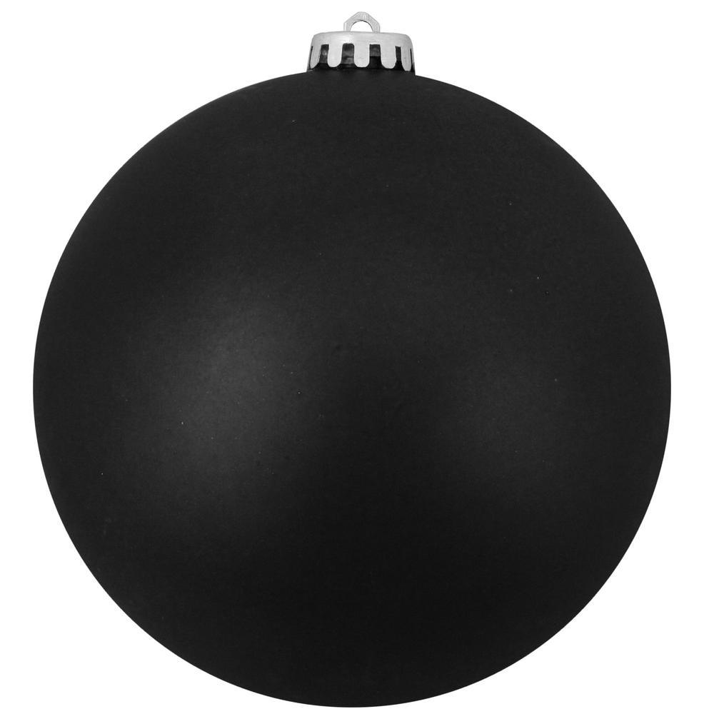 10 in. (250 mm) Matte Jet Black Commercial Shatterproof Christmas Ball Ornament
