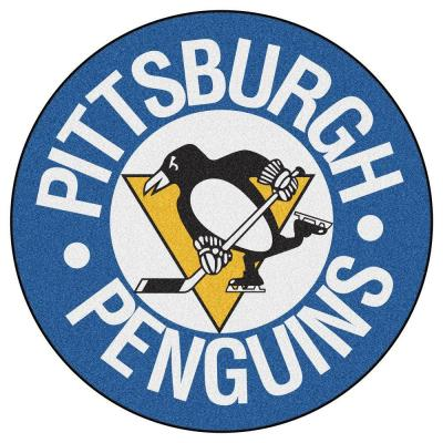 Pittsburgh Penguins Blue 2 ft. x 2 ft. Round Area Rug