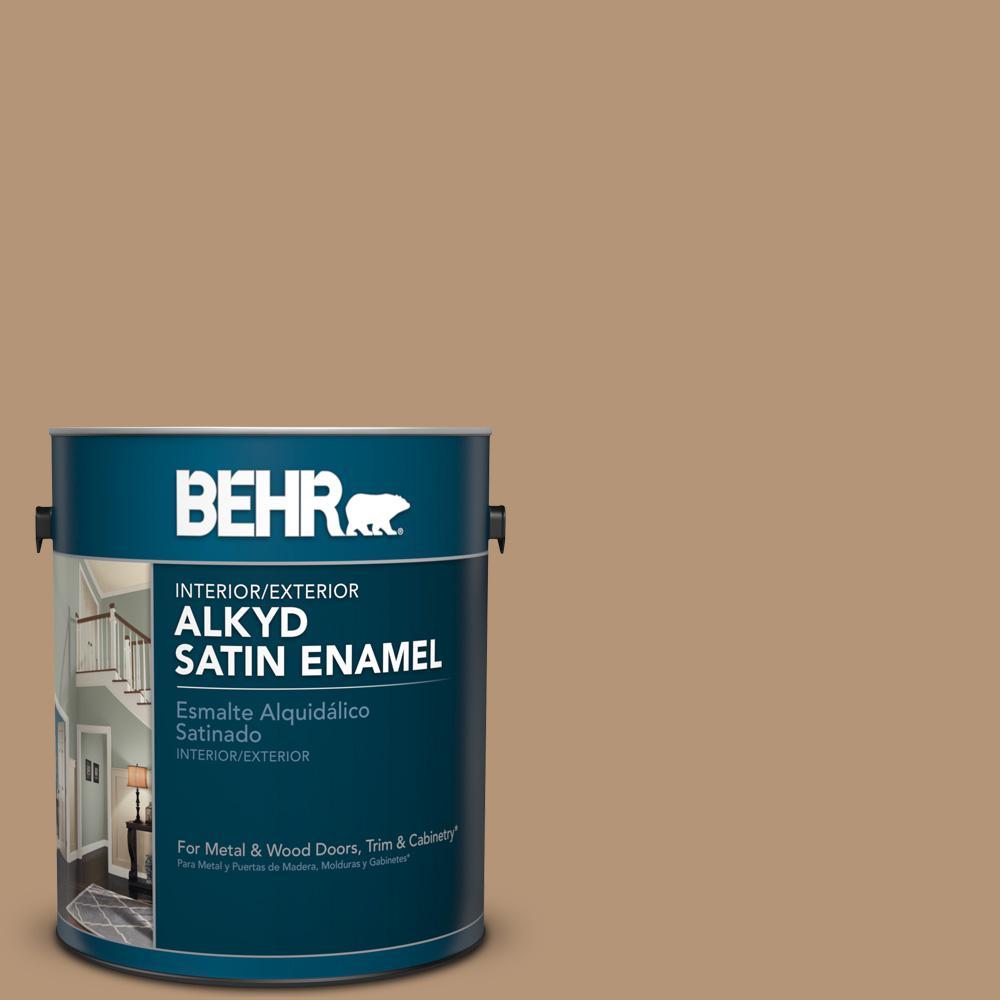 1 gal. #280F-4 Burnt Almond Satin Enamel Alkyd Interior/Exterior Paint