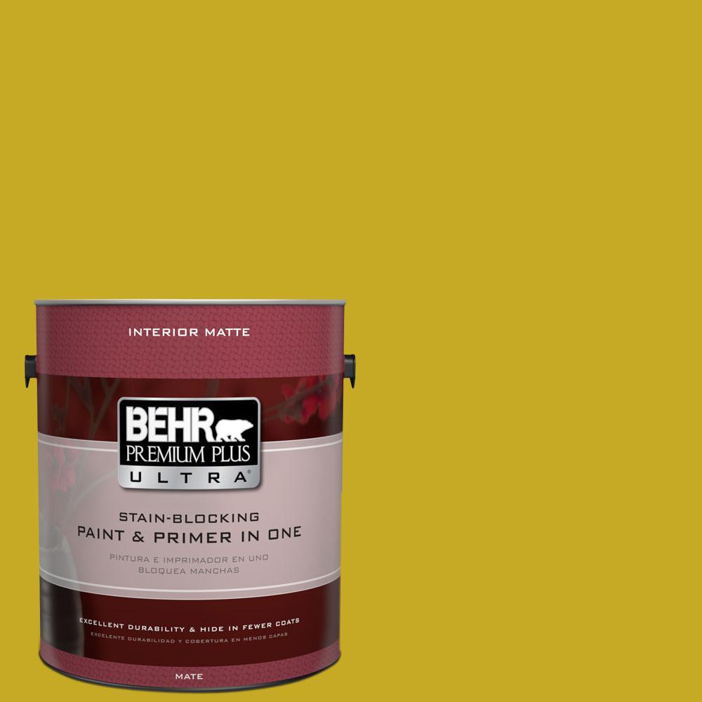 BEHR Premium Plus Ultra Home Decorators Collection 1 gal. #HDC-MD-03 Citronette Flat/Matte Interior Paint